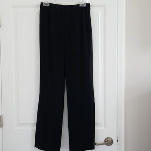 Cache black pants with side slits at bottom
